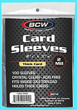 100 BCW THICK 130pt Soft CARD SLEEVES Jersey Relic Patch Sports Trading Baseball