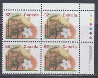 CANADA #1366 52¢ Fruit Trees Gravenstein Apple UR Plate Block MNH