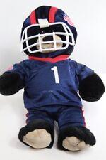 Build A Bear Black Bear with Blue Football Uniform