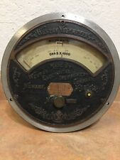 Weston Electric Voltmeter Micro Amperes Amp Ohms Large Ornate Face Patent 1901