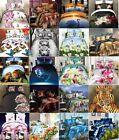 3D EFFECT COMPLETE SET DUVET COVER FITTED SHEET BED LINEN PILLOWCASE SINGLE KING