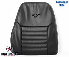 99-04 Ford Mustang GT Convertible -Passenger LEAN BACK Leather Seat Cover BLACK