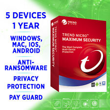 Trend Micro Maximum Security 5 devices 1 year 2020 full edition