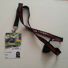 2011 AUSTRALIAN GRAND PRIX - SERVICES F1 PASS with Lanyard (FORMULA 1)