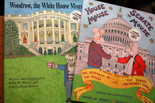 WOODROW, the White House Mouse + HOUSE MOUSE, SENATE MOUSE *Autographed* BARNES