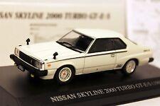 1:43 NISSAN Skyline 2000 Turbo GT-E-S 1980 White DISM 0073612