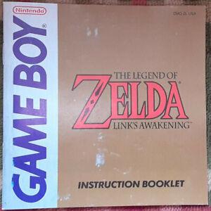 Original Legend of Zelda Link's Awakening instruction manual booklet Game Boy