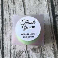 24x 4cm Thank You Gift Labels Personalized Wedding Baptism Baby Shower Stickers