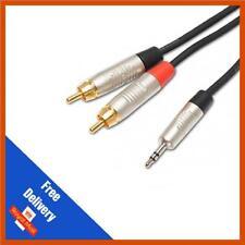 3M JACK 3.5mm a 2 RCA Audio Cavo spine fono Twin-connettori Neutrik/Rean