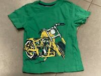 Hanna Anderson Kids Green Motorcycle T-Shirt Size 3T