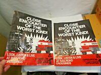 "2 vintage ""Operation Lifesaver"" Railroad Railway Posters 14""x11"" good shape NR"