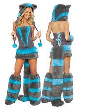 Women Sexy Raccoon Big Bad Animal Hoodie Costumes Cosplay Fancy Dress Halloween