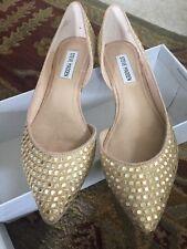 Steve Madden ELIGANT Embellishment  Orsay Pointy Toe Flats Gold  7.5 Or 8