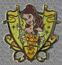 Belle Princess Jeweled Crest Pin - DLP - Disney