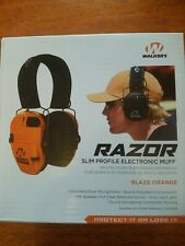 Walker's Hearing Razor Slim Profile Ear Muff GWP-SF-RSEM-BLZ NEW!! Orange