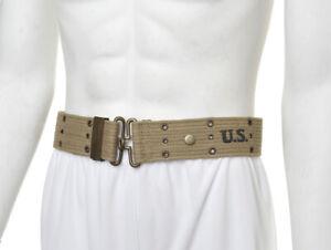 """WW2 U.S. M1936 Pistol Belt Khaki marked JT&L 1942 will fit 25""""- 45"""" waist"""