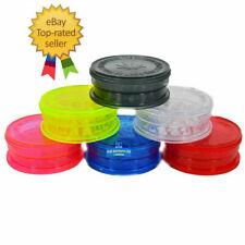 More details for choose colour magnetic 3 part no1 grinder plastic herb tobacco mini/ large