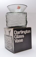 Vintage Midnight Grey Frank Thrower FT01 Dartinton Bark Glass Vase original box