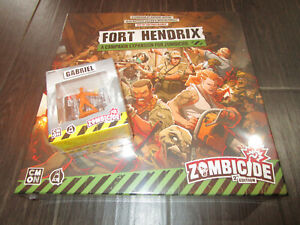 Zombicide 2nd Edition Fort Hendrix + Gabriel Expansion Kickstarter Exclusive