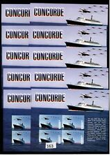 // 10X GAMBIA - MNH - TRANSPORT - SHIPS - CONCORDE