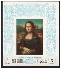 MONA  LISA LEONARDO DA VINCI - RAS AL KHAIMA  Souvenir Sheet