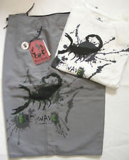 FIRST WAVE Mens Swimwear & T-shirt 2pc Set L NWT