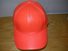 Genuine Leather Adjustable Solid Deluxe Baseball Cap/Hat - Made in USA