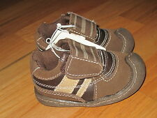 Baby toddler boy Faux Suede Leather Brown casual walking shoes NWT 3