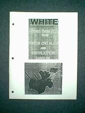 WHITE SNOW BOSS 500 SNOWBLOWER SNOWTHROWER OWNER'S WITH PARTS MANUAL
