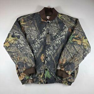 Mossy Oak Jacket Coat Snap Button Camo Camouflage Quilt Lined Men's Size XL EUC