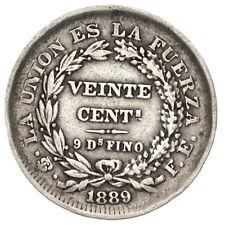 BOLIVIA 20 Centavos 1889 PTS FE