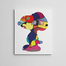 "16x20"" Gallery Art Canvas- Kaws XX No One`s Home Snoopy Contemporary Decor"