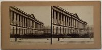 Colonnato Del Louvre Parigi Foto Stereo Vintage Albumina