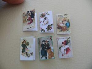 1/12th dolls house - CHRISTMAS CARDS - SG
