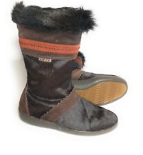 Vintage Technica Goat Fur Boots Ski Made In Italy Size 37 EUR Sz 7 Apres Brown