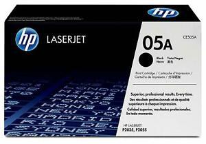 HP CE505A (05A) Black Genuine Original OEM Printer Toner Cartridge VAT Invoice