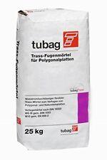 TUBAG Fugenmörtel Trass Naturstein Polygonalplatten TFP 25kg €0,89/kg