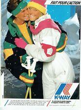 Publicité Advertising 049  1986   vetements ski Etoiles K-Way (  cornée  bas)