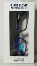New Blue Light Filtering E-Specs Flex Hinge Reading Eye Glasses +2.50