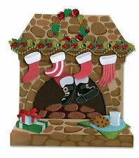 Santa Claus Coming Down Chimney Christmas Eve Stockings  Jolee's 3D Stickers