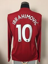 IBRAHIMOVIC #10 BNWT Manchester United LS Home Football Shirt Jersey 2017/18 (L)