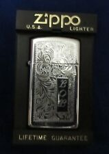 """Zippo Lighter ~ with Case and Instruction Booklet ~ used ~ Engraved """"BOB"""""""