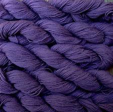 Pure wool  yarn, fingering weight,  eggplant,  5 skeins, 9oz.