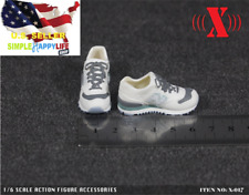 "1/6 female white sneakers shoes boots for 12"" figure hot toys phicen kumik ❶USA❶"