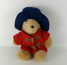 Vintage 1988 Paddington Bear Eden Toys Red Overcoat and Blue Hat 11""