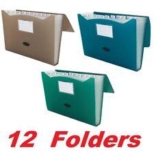 "12 Mead 35013 Expanding File Folder 13 Pocket 9 1/4""x13"" Document Organizer Tabs"