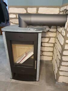 Kamin Brasil schwarz grau für 120 m² Speckstein Wohnzimmer Holz/Brigett
