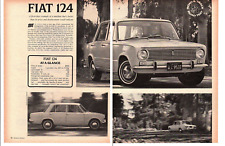 1967 FIAT 124 SEDAN ~ ORIGINAL 4-PAGE ROAD TEST / ARTICLE / AD