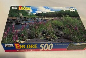 """VTG NOS  Jigsaw Puzzle 500 pc Wisconsin River 10 3/4"""" X 18"""""""