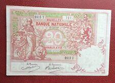 Belgique -  Très Joli Billet  de 20 Francs du  14-05-1914